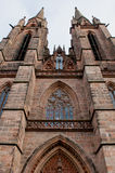 Gothic St. Elizabeth's Church in Marburg. Vertical Royalty Free Stock Images