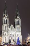 Gothic St. Ludmila church in Prague Stock Photo