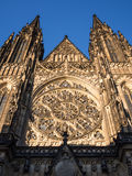 Gothic St. Vitus cathedral in Prague Stock Photo