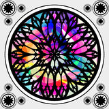 Gothic stained-glass window Royalty Free Stock Photos