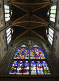 Gothic stained-glass window Stock Images