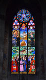 Gothic stained-glass window Royalty Free Stock Photo