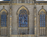 Gothic stained window Royalty Free Stock Images