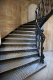Gothic staircase. With metal steps Royalty Free Stock Images