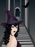 Gothic Stairs And Witch Royalty Free Stock Images