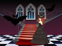 Gothic Stairs And Witch Royalty Free Stock Photography
