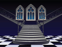 Gothic Stairs Interior Royalty Free Stock Images