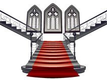 Gothic Stairs Interior Stock Photography