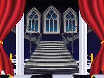 Gothic Stairs Interior Royalty Free Stock Photos
