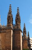 Gothic steeples on the cathedral of Granada, Spain Royalty Free Stock Photos