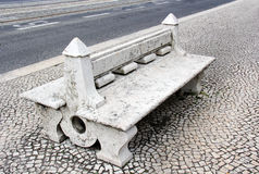 Gothic stone bench Royalty Free Stock Images