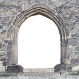Gothic stone gate. Royalty Free Stock Photo
