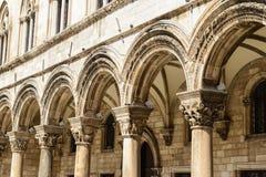 Gothic Stone Pillars Royalty Free Stock Image