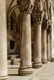Gothic Stone Pillars Royalty Free Stock Photos