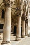 Gothic Stone Pillars Royalty Free Stock Images