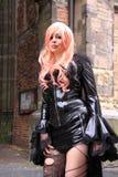 Gothic streetstyle fashion stock photography