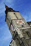 Gothic style architecture of Black Church in Brasov city Royalty Free Stock Image