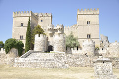 Gothic style castle Stock Images