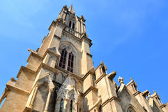 Gothic style Catholic church tower Stock Photography