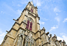 Gothic style Catholic church tower Royalty Free Stock Photo