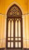 Gothic style church door in Bangkok, Thailand Royalty Free Stock Photos