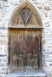 Gothic style church door from 1823 Stock Images