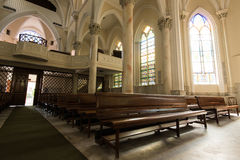 Gothic Style Church Interior Royalty Free Stock Photography