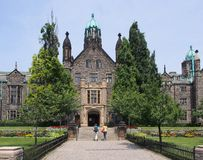 Gothic style college building Royalty Free Stock Images