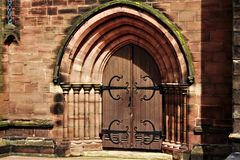 Church Doorway, Entrance, Stoke-on-Trent royalty free stock images