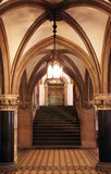 Gothic Style Foyer with Staircase royalty free stock images