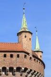 Gothic-style Krakow Barbican , Old Town,  Krakow, Poland Stock Photo