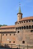 Gothic-style Krakow Barbican , Old Town,  Krakow, Poland Royalty Free Stock Photos