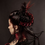 Gothic Style Model Girl Portrait Stock Image