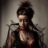 Gothic Style Model Girl Portrait Royalty Free Stock Images