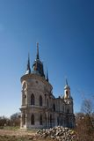 Gothic style princess castle in village Bykovo. Stock Image