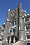 Gothic style school building. A neogothic style entrance to a high school or college royalty free stock images