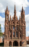 Gothic Style St. Anne Church in VIlnius, Lithuania Royalty Free Stock Photo