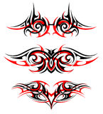 Gothic style tattoo set Royalty Free Stock Photo