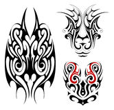 Gothic style tattoo shapes Stock Photography