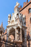 Gothic style tomb of cansignorio in Verona Stock Images