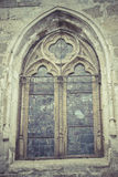 Gothic style window in the Cathedral of Toledo spain Stock Photos