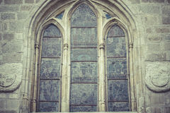 Gothic style window in the Cathedral of Toledo spain Stock Photography