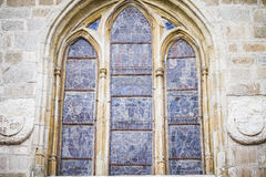 Gothic style window in the Cathedral of Toledo spain Stock Image