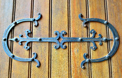 Gothic style wooden door Stock Photography