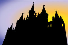 Gothic temple Stock Photo