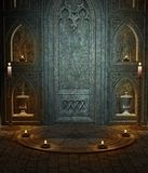 Gothic temple 3. Gothic temple with a ritual circle Royalty Free Stock Images