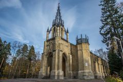 The Gothic temple royalty free stock photography