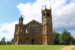 The Gothic Temple, Hawkwell Field 2. Stowe House is a Grade I listed country house located in Stowe, Buckinghamshire, England. It is the home of Stowe School, an stock photo