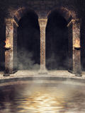 Gothic temple with water Royalty Free Stock Photography