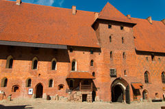 Gothic Teutonic castle in Malbork, Poland. Royalty Free Stock Image